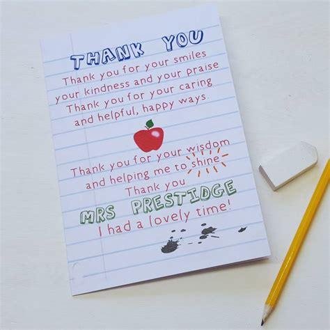 Olin Rug Teacher Thank You Poem Card By Giddy Kipper