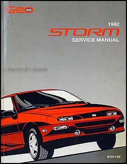 buy car manuals 1992 geo storm head up display 1992 geo storm repair shop manual original
