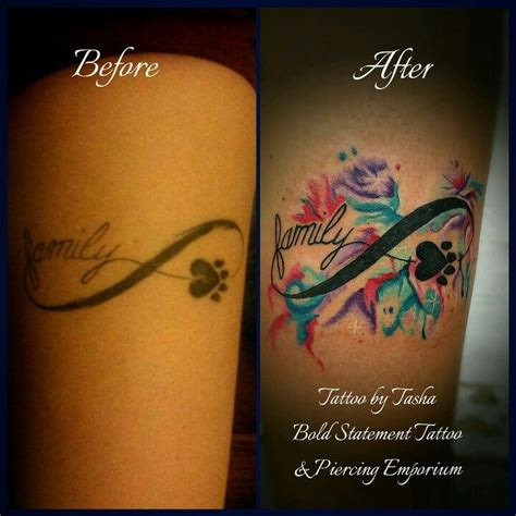 infinity tattoo girly redid the infinity symbol and added watercolor to this