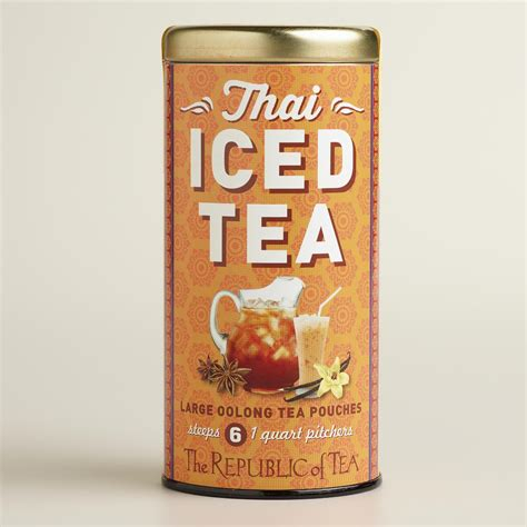 Thai Tea A Classic Thai Iced Tea With Sweet Condensed Milk light on the go tea mandarin flavor 10