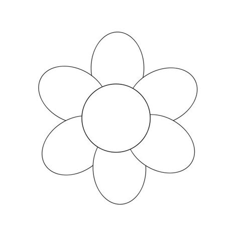 easy flower template best photos of simple flower template flower coloring