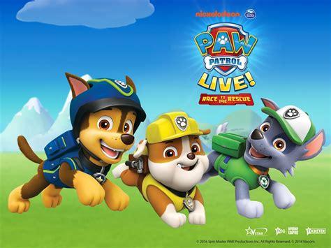 pow patrol nickalive paw patrol live race to the rescue announces