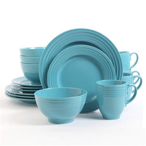 Kitchen Cups And Plates by Turquoise Coffee Tea 16 Dinnerware Dining Set Cup