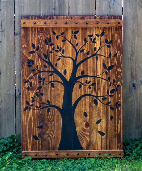 wood home decor tree wood wall rustic tree wood