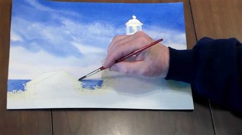 how to paint how to paint a lighthouse in watercolor step 3 adding