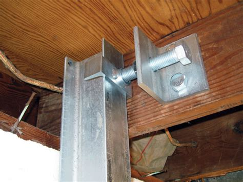 basement wall support i beams the powerbrace wall repair system installation in eastern montana dakota and minnesota