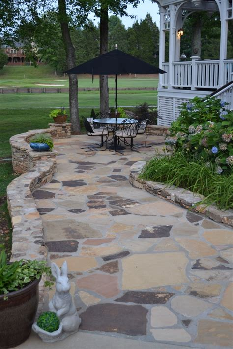 Backyard Flagstone Patio Ideas Tennessee Flagstone Patio Patio Backyard Plants Ect Pintere