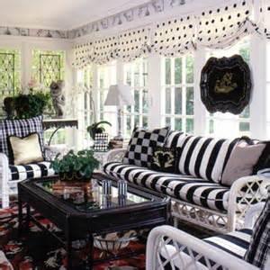 sunroom makeover ideas decorating inspiration black white hooked on houses