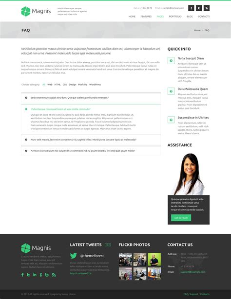 themeforest faq magnis multipurpose html template by rivathemes