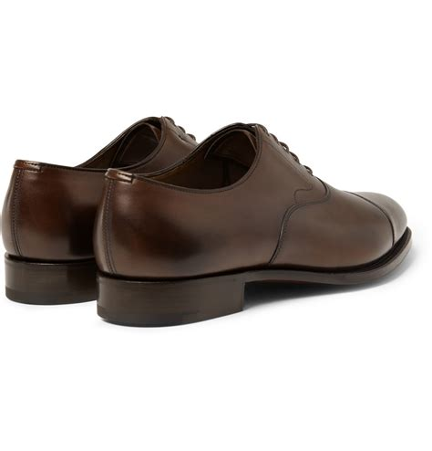 chelsea oxford shoes lyst edward green chelsea leather oxford shoes in brown