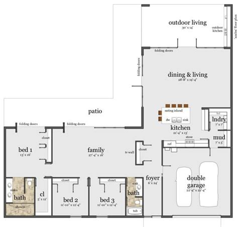 l shaped open floor plan 25 best ideas about l shaped house on pinterest