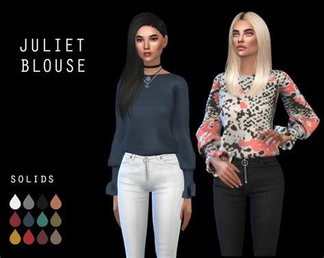 Blouse Leo Collor leo 4 sims juliet blouse recolored sims 4 downloads