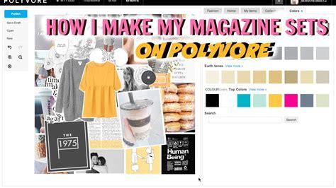 Magazine Set how i make my magazine sets on polyvore