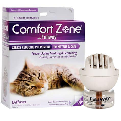 feliway vs comfort zone comfort zone with feliway diffuser 48 ml