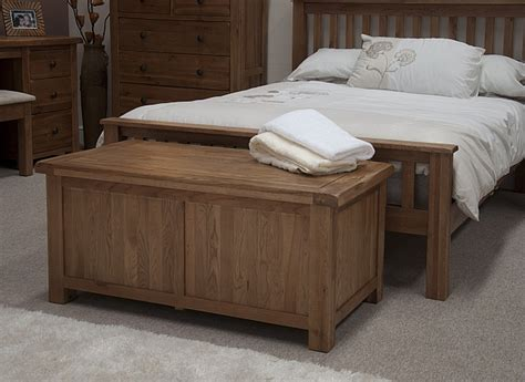 bedroom trunks tilson solid rustic oak bedroom furniture blanket storage