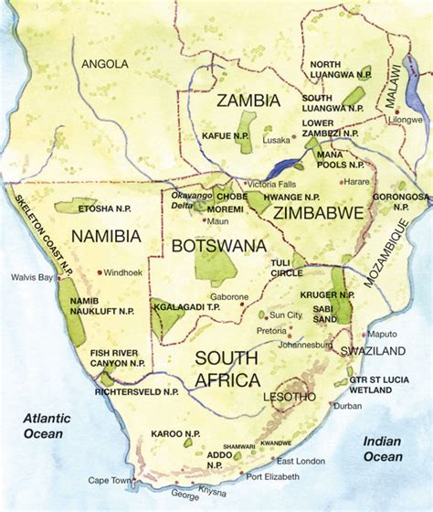 www southern southern africa map pictures