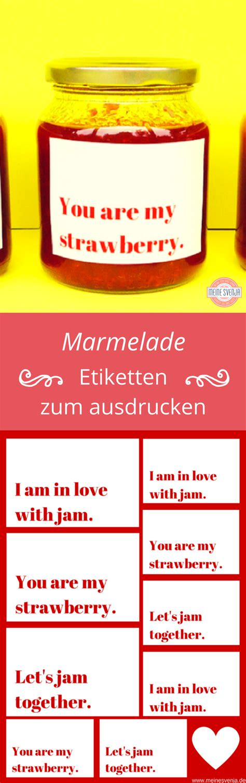 Etiketten Marmelade Erdbeer by Erdbeermarmelade Rezept Und Etiketten Erdbeermarmelade