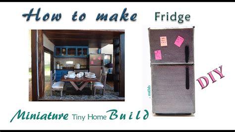 How To Make A Paper Refrigerator - how to make a doll fridge diy tutorial cardboard