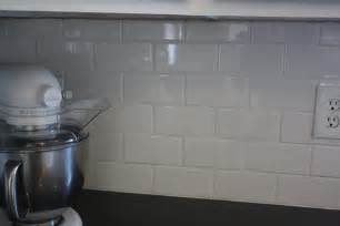 White Tile Kitchen Backsplash Diy White Subway Tile Backsplash