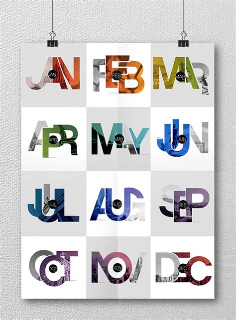 calendar design behance 17 best images about type image photocollage on pinterest