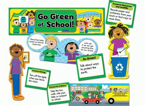 Alliz Go To School Green go green at school display set
