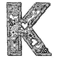 K Letter Doodle doodle letter k 187 alphabet coloring
