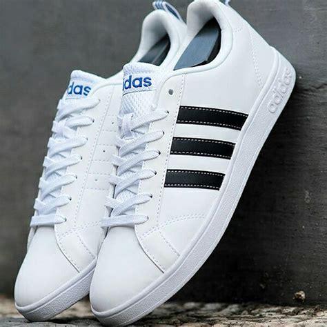 Sepatu Adidas Blue White jual sepatu adidas neo advantage v2 white black blue