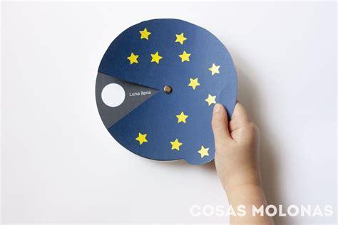 fases de la luna para ninos manualidades para ni 241 os las fases de la luna