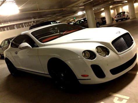 buy used bentley supersports white on black interior