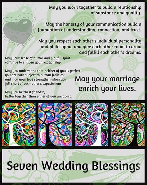 Wedding Blessing In Hebrew by Seven Wedding Blessings Tree Of Hamsas By