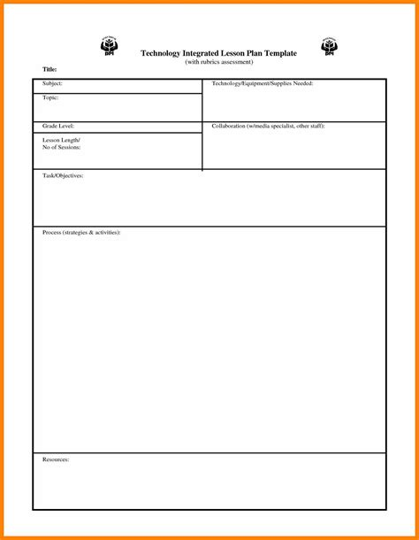 5 Basic Lesson Plan Template Bike Friendly Windsor Basic Business Template