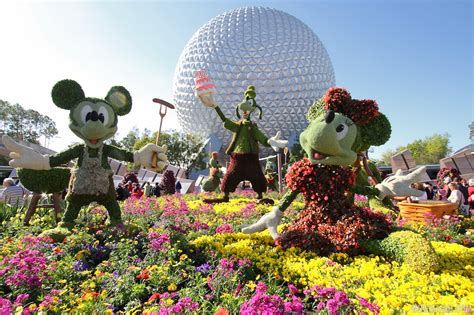 The 2015 Epcot International Flower And Garden Festival Flower Garden Festival