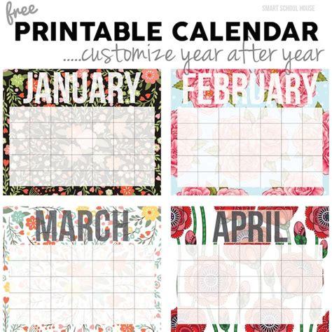 customized calendar template 25 unique printable blank calendar ideas on