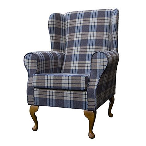 Small Wingback Armchair Small Westoe Wingback Armchair In A Kintyre Chambray