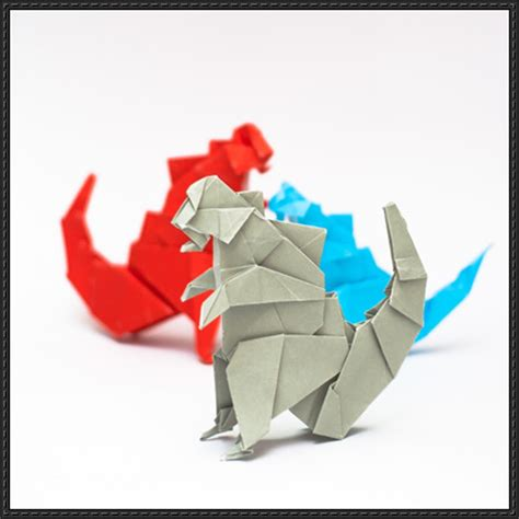 Origami Godzilla - papercraftsquare new paper craft how to fold an