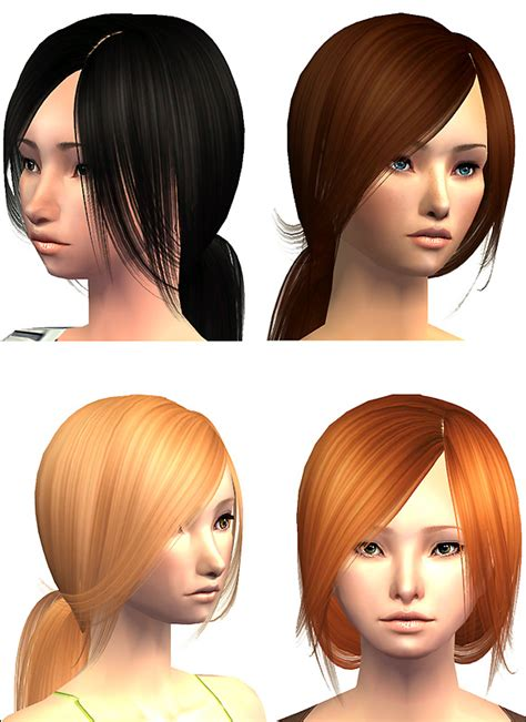 ponytailsims 4 child mod the sims flowing ponytail raon082 7 binned