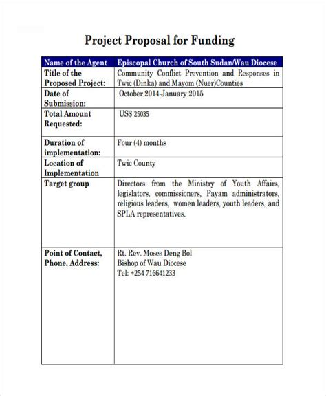 Funding Project Template 51 Templates Exles Sles