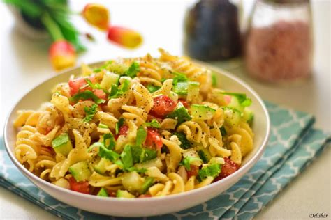 tasty pasta salad easy pasta salad delishar singapore cooking