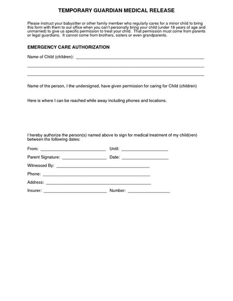 Release Of Guardianship Letter Authorization Form For Grandparents For More Release Form Grandparents Photo