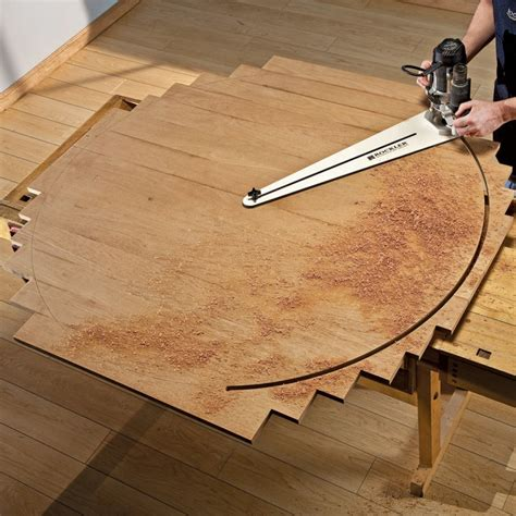 wood pattern jig rockler circle cutting jig woodworking tools