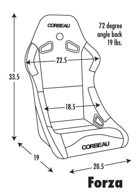 corbeau sport seat dimensions corbeau forza racing seat black cloth 29101