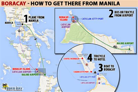 how to get a to infographic how to get to boracay from manila the boracay magazine