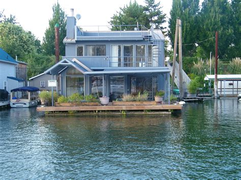 awesome floating home with slip for sale karla