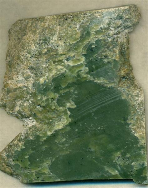 alaska jade gemstone slab
