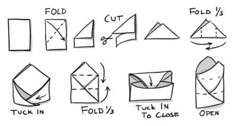 How To Fold Paper Into A Small Envelope - how to fold a small envelope from scrap paper for storing
