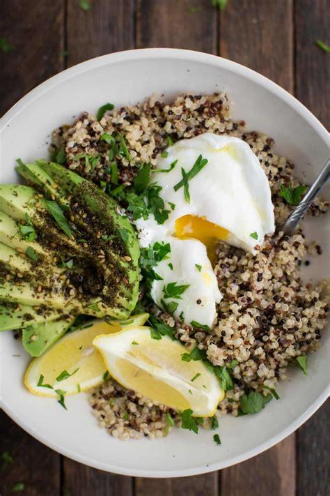 protein quinoa bowl quinoa bowl with za atar avocado and egg naturally ella