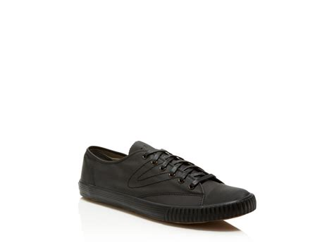 tretorn leather sneakers lyst tretorn tournament plus leather sneakers in black
