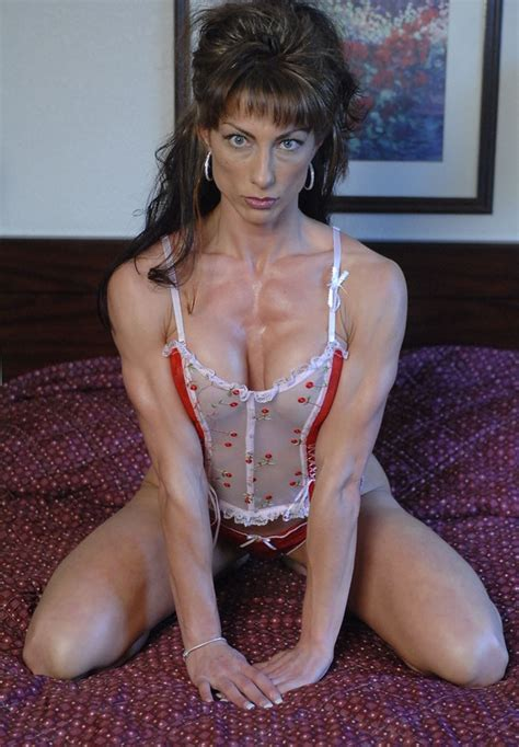 sexy muscular girls  bedroom  tracy