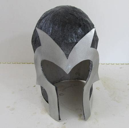 How To Make A Helmet Out Of Paper Mache - how to make a magneto helmet