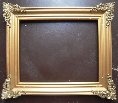 corner picture frames gold victorian picture frame w brass corners 8 quot x 10 quot from